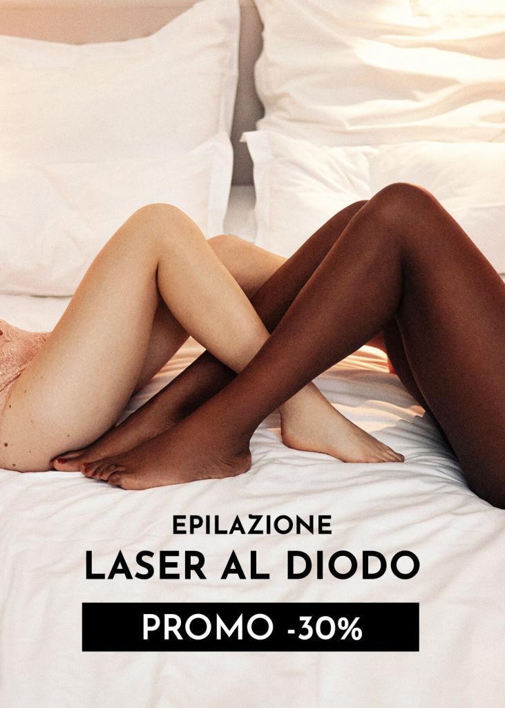 laser al diodo gambe ascelle e inguine
